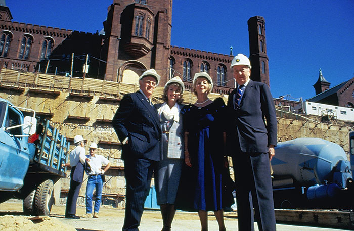 Dr. Arthur M. Sackler, Jillian Sackler, Mary Ripley and Dillon Ripley  - Arthur M. Sackler Gallery, Smithsonian Institution