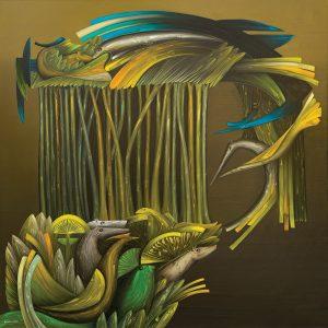Nicolas Herrera. The Garden. Oil on canvas. 200 x 200 cm.